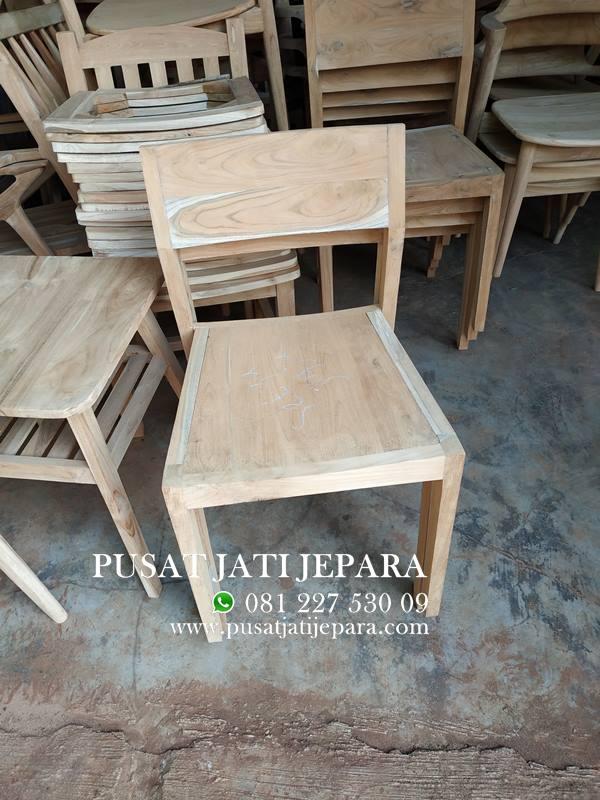 Kursi Cafe Jati Minimalis Simpel Solid