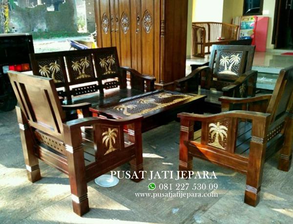Model Kursi Teras Kayu Minimalis kursi tamu minimalis flamboyan ukir kelapa murah pusat