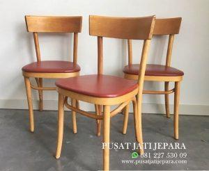 Kursi Cafe Jati Minimalis Scandinavian Terbaru