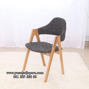 Kursi Cafe Jati Unik Fabric Modern