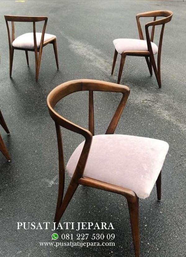 Kursi Cafe Scandinavian Minimalis Jati Modern