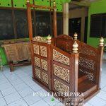 Mimbar Masjid Khutbah Ukir Kayu Jati Modern Jepara