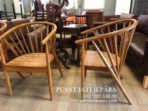 Kursi Cafe Jati Keranjang Modern