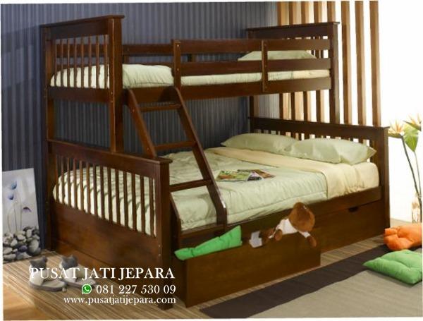 Ranjang Tidur Tingkat Anak Tangga Minimalis