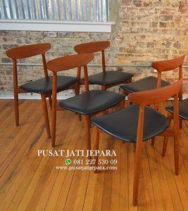 Kursi Cafe Jati Danish Minimalis