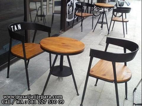 Kursi Cafe Makan Duo Jati Black