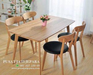 Kursi Cafe Meja Jati Brown Minimalis