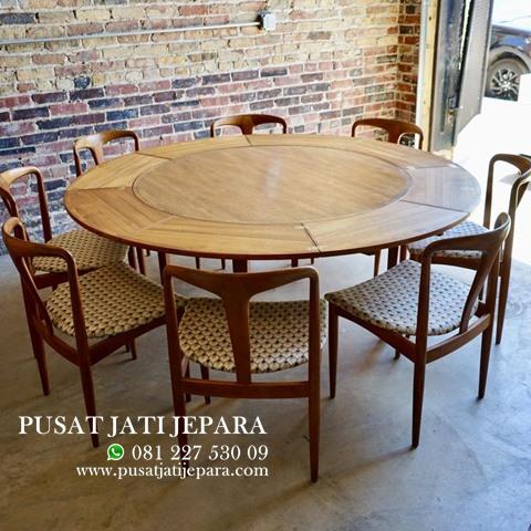 Kursi Cafe Meja Makan Melingkar Kayu Jati