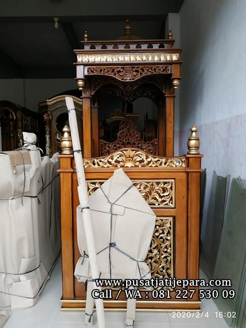 Set Mimbar Masjid Jati Kubah Terlaris