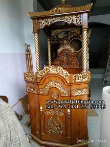 Set Mimbar Masjid Mihrob Jati Kubah