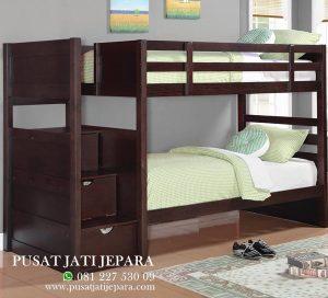 Tempat Tidur Model Tingkat Minimalis Jati Royal