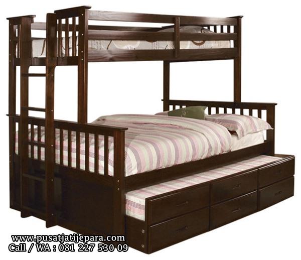 Tempat Tidur Model Tingkat Minimalis Kayu Jati
