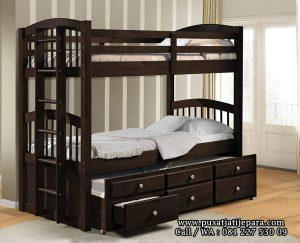 Tempat Tidur Model Tingkat Twin Modern French