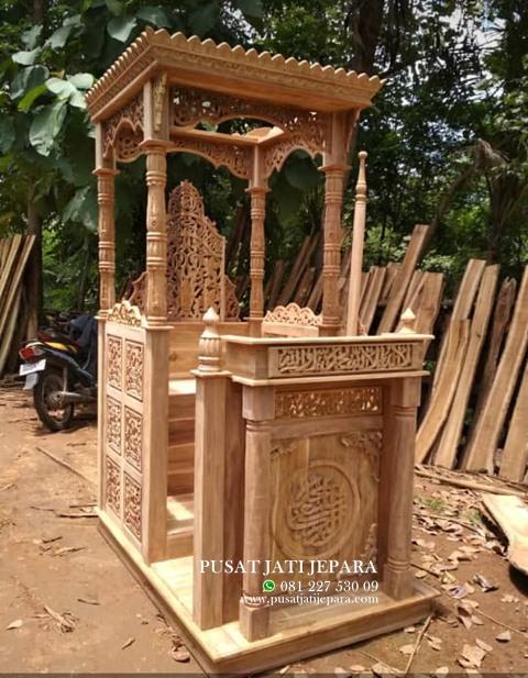 Mimbar Masjid Kubah Ukiran Jati Murah